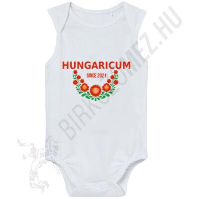 Baba-body,ujjatlan, pamut fehér-Hungaricum