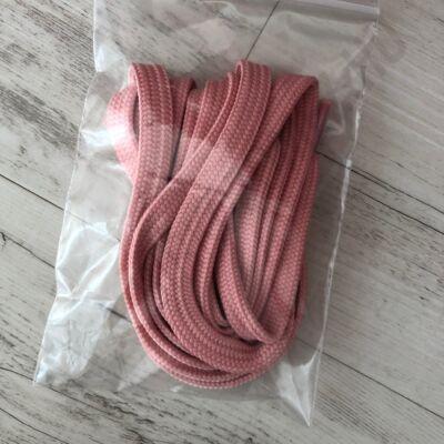 Cipőfűző, világos rózsaszín, 135cm-s