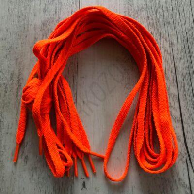Cipőfűző - neon narancs, 180cm-s