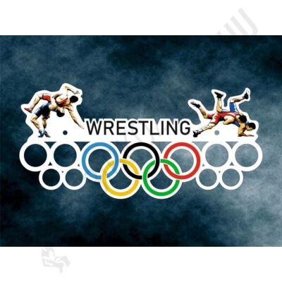 Fali Éremakasztó Fából - wrestling (50 x 23cm)