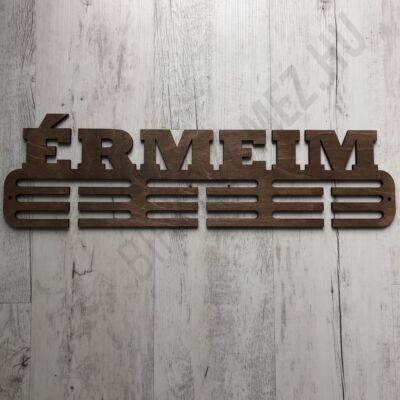 Fali Éremakasztó Fából - ÉRMEIM - 3 soros világosbarna (15x50cm)