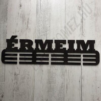 Fali Éremakasztó Fából - ÉRMEIM - 3 soros fekete (12,5x50cm)
