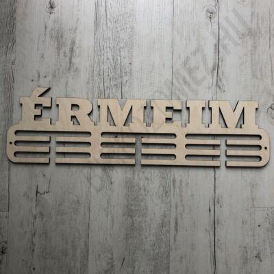 Fali Éremakasztó Fából - ÉRMEIM - 3 soros bézs (15x50cm)