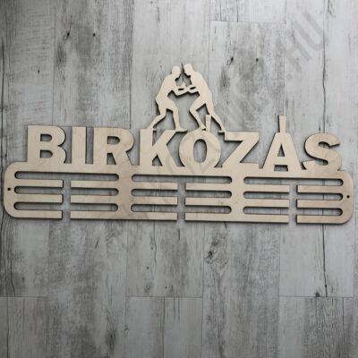 Fali Éremakasztó Fából - BIRKÓZÁS - 2 soros bézs (38x16cm)