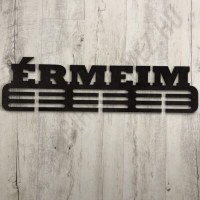 Fali Éremakasztó Fából - ÉRMEIM - 3 soros sötétbarna (70x16,5cm)
