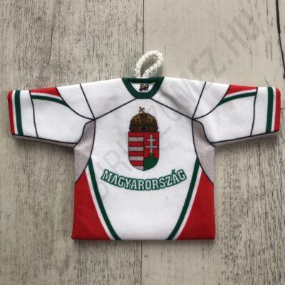 Piros-fehér-zöld, Magyarországos kispóló (autóba lógó dísz)