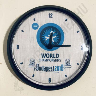 Mágneses, fekete-fehér kicsi óra Lánchíd(8cm)