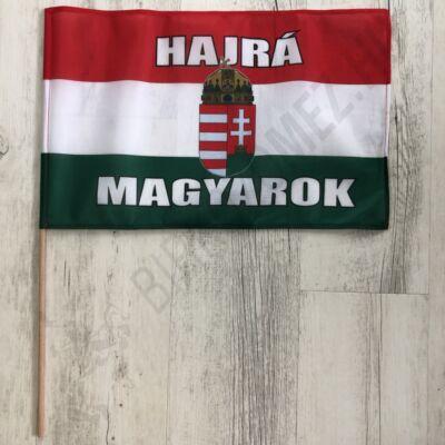 Hajrá magyarok zászló (26x42cm)