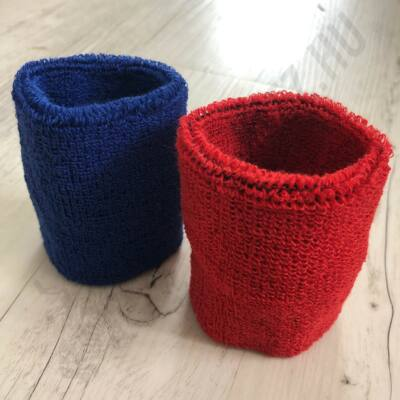 Bírói csuklószorító pár (kék-piros)