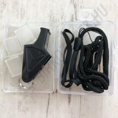 Műanyag síp-fekete (nem golyós)