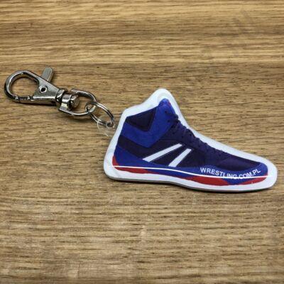 Kulcstartó, birkózó cipő - világos-sötétkék