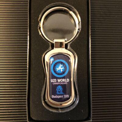 U23-as piskóta alakú kulcstartó-sötétkék