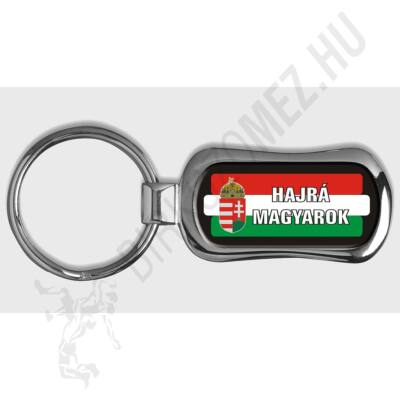 MAGYARORSZÁG,  piskóta alakú kulcstartó, piros-fehér-zöld