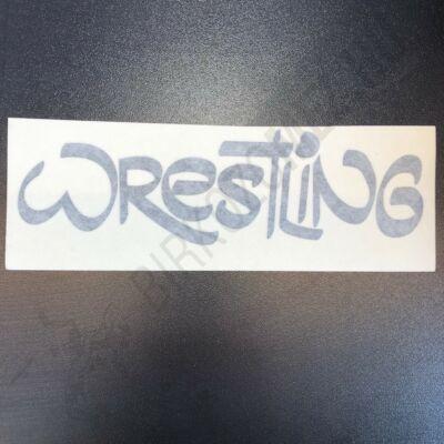Wrestling feliratú kontúr matrica-fekete