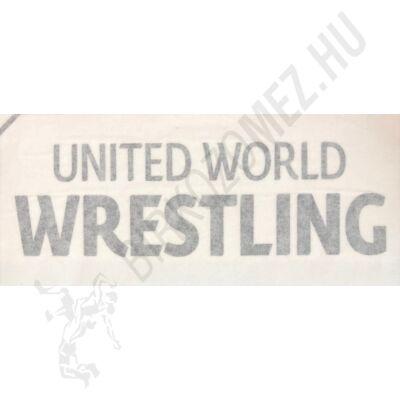 United World Wrestling feliratú kontúr matrica-fekete