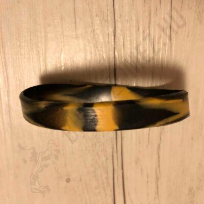 Sima szilikon karkötő fekete-sárga