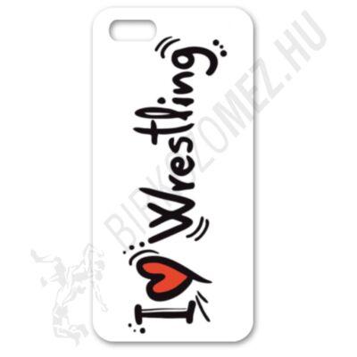 Telefontok (fehér)-I love wrestling felirattal