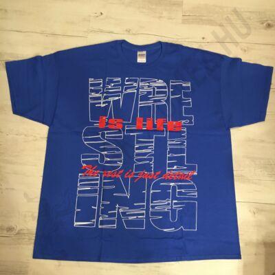 Férfi póló - Szöveges - Kék