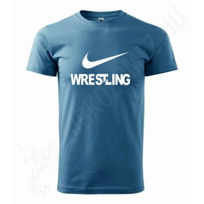 Férfi póló - Wrestling -világos kék