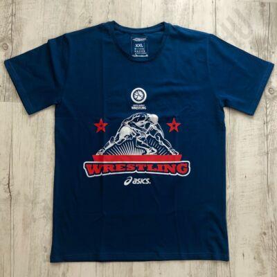 Férfi póló Wrestling - Csillagos-kék-2XL
