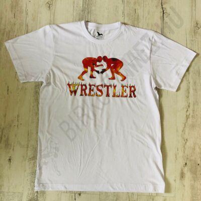 Férfi póló - Wrestling fire