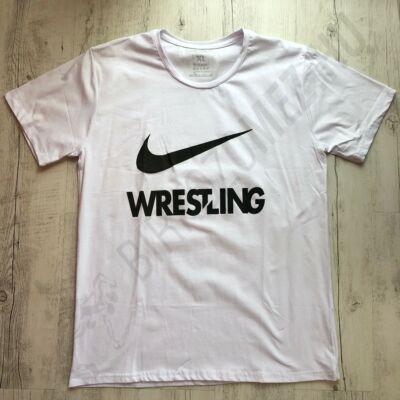 Férfi póló Wrestling - Fekete pipával-fehér