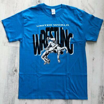 Férfi póló - Wrestling - dobós-kék