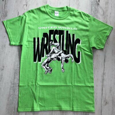 Férfi póló - Wrestling - dobós-zöld