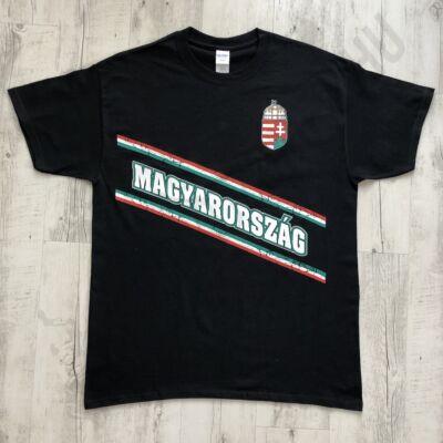 Férfi póló - Magyarország - Fekete