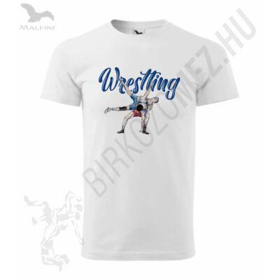Férfi szublimált póló, wrestling rajzolt mintával