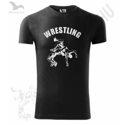 Fekete-ezüst mintás prémium póló