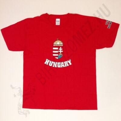 Gyerek póló-Magyar címeres-piros