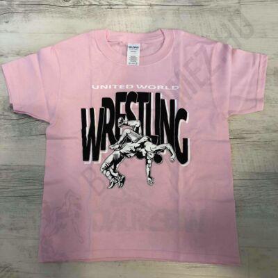 Gyerek póló - Wrestling dobós -rózsaszín