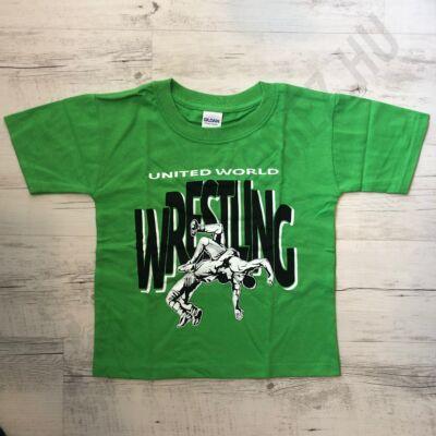Gyerek póló - Wrestling dobós - zöld