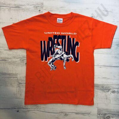 Gyerek póló -Wrestling dobós-narancssárga
