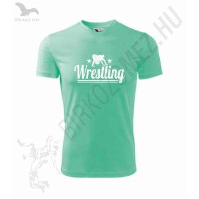 Wrestling-Technikai anyagból-Gyerek póló menta