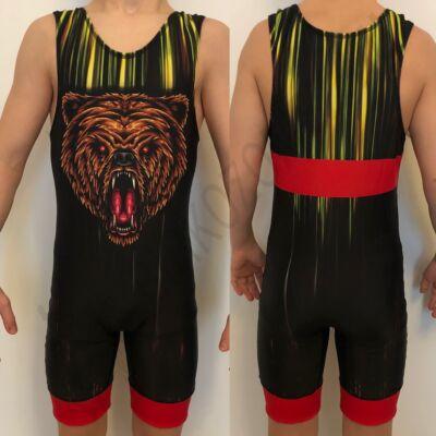 Medvés birkózómez-piros,sárga