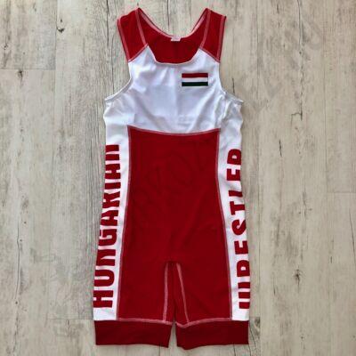 Hungarian Wrestler-Zászlós magyar birkózómez-piros