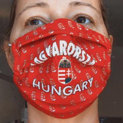 Egyedi mintával nyomott maszk- Magyarország apró mintás(gumis)