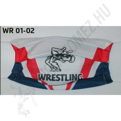 Egyedi mintával nyomott egyrétegű maszk- Wrestling mintás(gumis)- WR-01-02