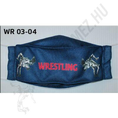 Egyedi mintával nyomott kétrétegű maszk- Wrestling mintás5(gumis)- WR-03-04