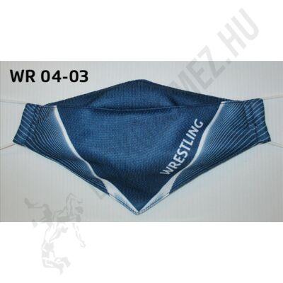 Egyedi mintával nyomott kétrétegű maszk- Wrestling mintás10(gumis)- WR-04-03
