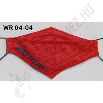 Egyedi mintával nyomott kétrétegű maszk- Wrestling mintás11(gumis)- WR-04-04