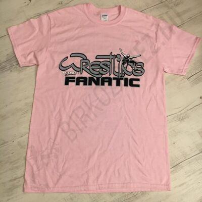 Női póló -Wrestling Fanatic-rózsaszín