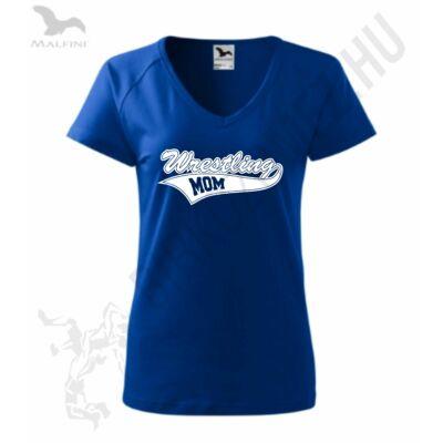 Női karcsúsitott póló-k.kék-fehér