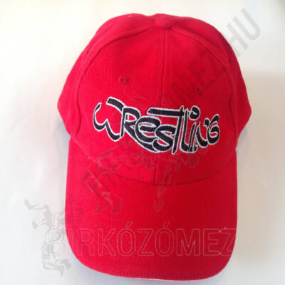 Baseball Sapka-Wrestling felirattal-piros