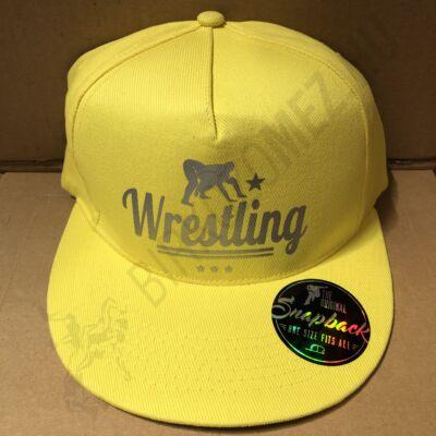 SNAPBACK - Wrestling Sárga-mintás