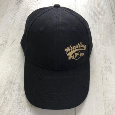 Baseball Sapka-Wrestling felirattal-Fekete