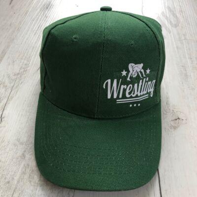 Baseball Sapka-Wrestling felirattal-Zöld