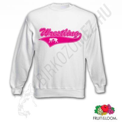 Női vagy lány pulóver-fehér,rózsaszín